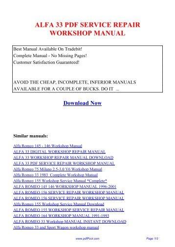 alfa romeo 75 milano pdf service repair workshop manual pdf pool rh yumpu com alfa romeo 75 repair manual alfa 75 workshop manual pdf