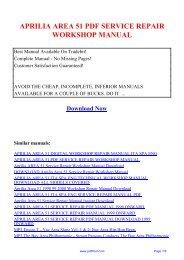 aprilia area 51 pdf service repair workshop manual - PDF Pool
