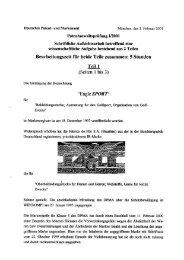 Patentanwaltsprüfung II/2001 Schriftliche Aufsichtsarbeit betreffend ...
