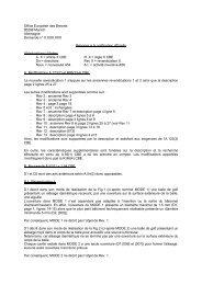 Office Européen des Brevets 80298 Munich Allemagne Demande n ...
