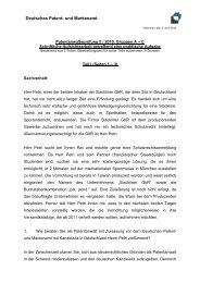 Patentanwaltsprüfung II / 2010, Gruppen A – C
