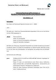 Patentanwaltsprüfung II/2009, Gruppen A
