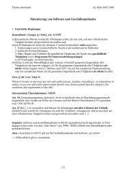 Patentierung von Software und Geschäftsmethoden