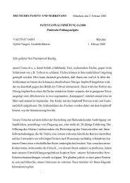 DEUTSCHES PATENT- UND MARKENAMT München, den 2 ...