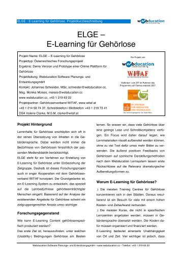 ELGE – E-Learning für Gehörlose - ePractice.eu