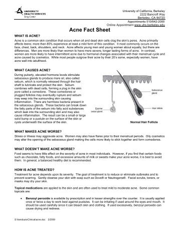 Acne Fact Sheet - University of California, Berkeley