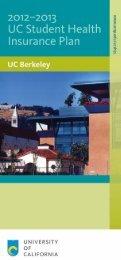 UC SHIP Brochure 2012-2013 (PDF) - University Health Services ...