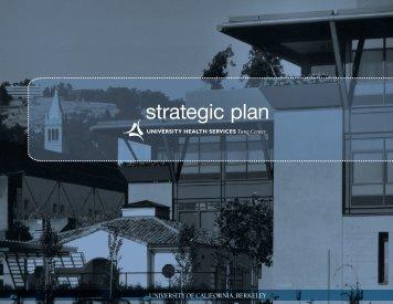 strategic plan - University Health Services