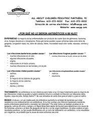 ¿por qué no le dieron antibióticos a mi hijo? - All About Children ...