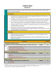 Asthma Quiz - Respuestas