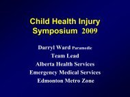 Child Health Injury Symposium 2009 - Capital Health