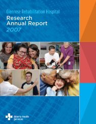 Research Annual Report 2007 - Capital Health