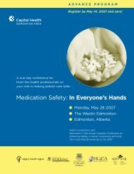 Medication Safety: In Everyone's Hands - Capital Health