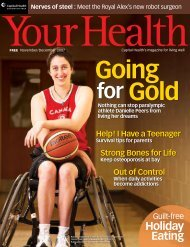 November/December 2007 Capital Health's Magazine For Living