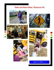 'Walk and Ride Safely' Resource Kit - Capital Health