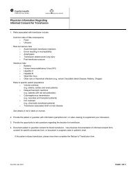 Physician Information Regarding Informed Consent ... - Capital Health