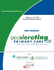 FINAL PROGRAM - Capital Health