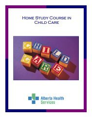 Home Study Course In Child Care - Capital Health
