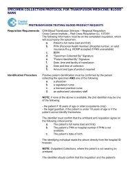 Transfusion Medicine General Information - Capital Health