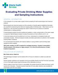 Evaluating Private Drinking water Supplies and ... - Capital Health