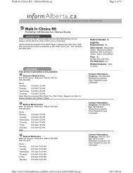 Walk In Clinics R6 - Capital Health