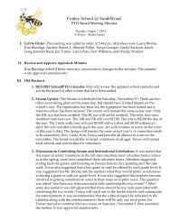 Meeting Minutes - Conley Elementary School