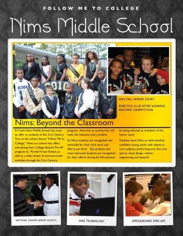Nims Promotional Flyer - Conley Elementary School