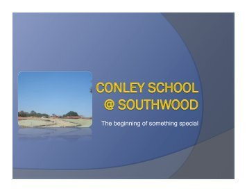 Goals Presentation - Conley Elementary School