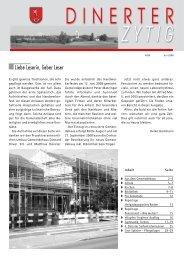 Dinerter Zytig 2008-4 [PDF, 2.00 MB] - Gemeinde Dinhard