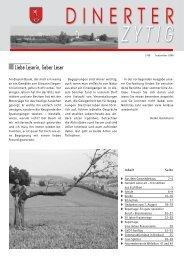 Dinerter Zytig 2008-5 [PDF, 3.00 MB] - Gemeinde Dinhard