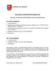 EINLADUNG GEMEINDEVERSAMMLUNG - Gemeinde Dinhard