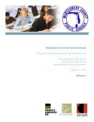 Volume 1 - Montgomery County Public Schools