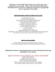Student Registration Form - Montgomery County Public Schools