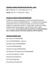PHYSICAL FITNESS TESTING DATES FOR 2011 - 2012 Fall ...