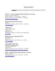 MCPS 2012-2013 Tentative list of State and Regional Teacher ...
