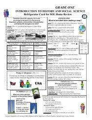 1st Grade Refrigerator Cards - Spotsylvania County Public Schools