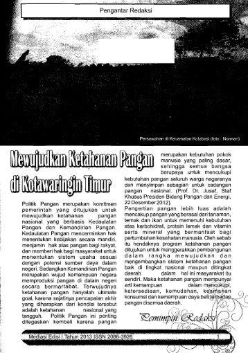 Mediasi: Bulletin Penelitian dan Perencanaan ... - PDII – LIPI