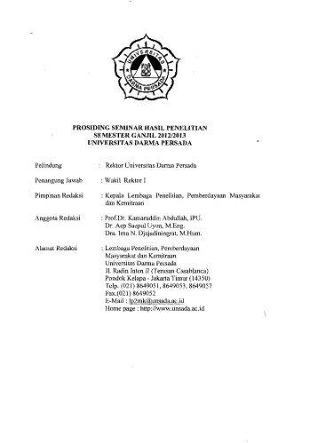 Prosiding Seminar Hasil Penelitian Semester Ganjil ... - PDII – LIPI