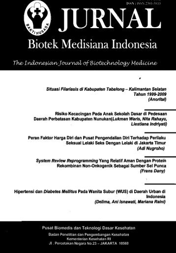 Jurnal Biotek Medisiana Indonesia - PDII – LIPI