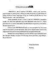 Reforma: Jurnal Litbangyasa Kebijakan Publik - PDII – LIPI