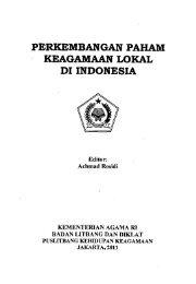 Perkembangan Paham Keagamaan Lokal di Indonesia - PDII – LIPI
