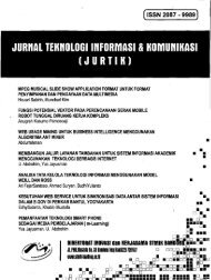 Jurnal Teknologi Informasi dan Komunikasi_Jurtik - PDII – LIPI
