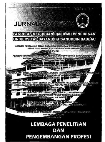 Jurnal Akademik - PDII – LIPI