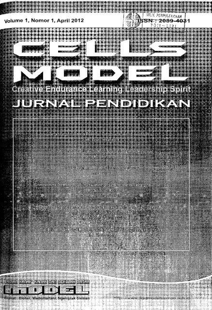 Cells Model: Jurnal Pendidikan - PDII – LIPI