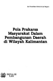 Pola Prakarsa Masyarakat Dalam Pembangunan ... - PDII – LIPI