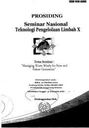 Prosiding Nasional Teknologi Pengolahan Limbah X - PDII – LIPI