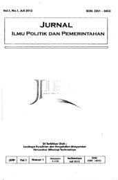JIPP: Jurnal Ilmu Politik dan Pemerintahan - PDII – LIPI