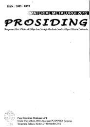 Prosiding Seminar Material Metalurgi 2012 - PDII – LIPI