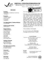 Jurnal Anestesi Perioperatif - PDII – LIPI