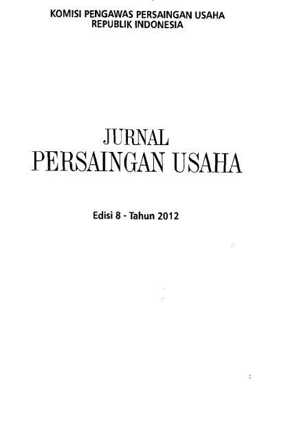 Jurnal Persaingan Usaha - PDII – LIPI